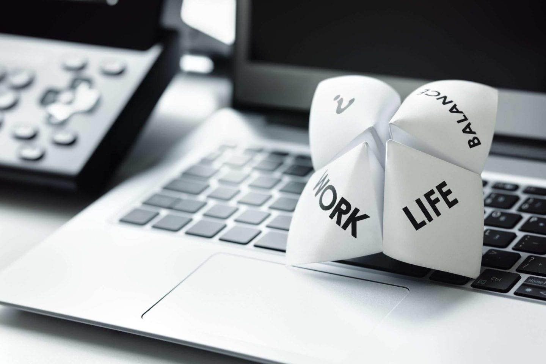 Work Life Balance Bürokonzept